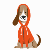 The Low-Profile Dog Hoodie Mascot