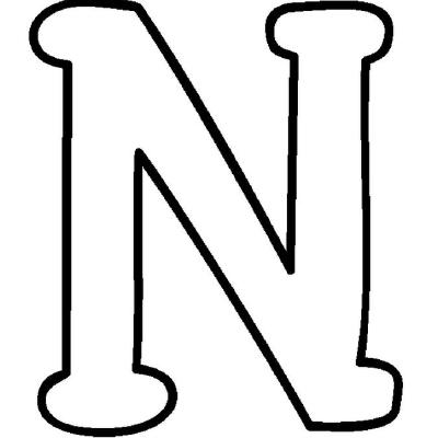 Letter N Coloring Pages  dltkteachcom