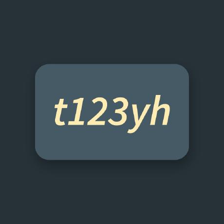 t123yh (Tian Yunhao) / Repositories · GitHub